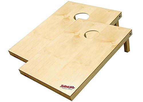 Wild Sports 2x3x2u0022 Solid Wood Platinum Cornhole Set