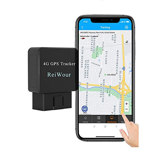 Reiwour 4G OBD GPS Tracker for Vehicles No Monthly Fee Mini Fleet OBD2 Real Time GPS Tracker No Subscription OBD-II Car Tracking Device Hidden Location Locator