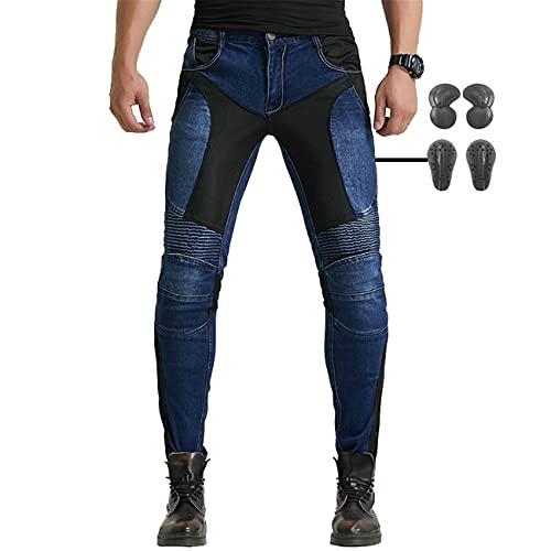 SHUOJIA Pantalones De Motociclista Hombres Forro Protector Moto De La...