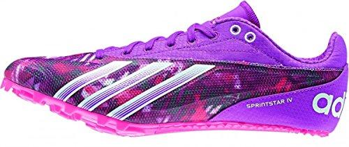 adidas Sprint Star 4 W - Zapatillas para Mujer, Color Blanco/Plata/Rosa/Naranja, Talla 43 1/3
