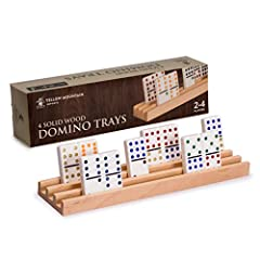 Put Together a Winning Hand: Each tray holds up to 44 tiles and has four rows for ample space to organize your tiles without the fatigue of palming tiles or trying to keep dominoes balanced and upright Made for Professional Sized Dominoes: Ideally fi...