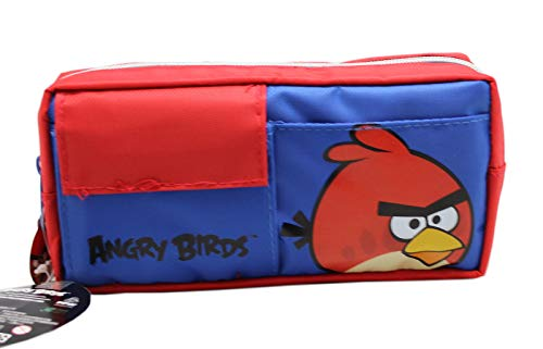 Angry Birds Red Bird Blue and Red Colored Kids School Pencil Bag