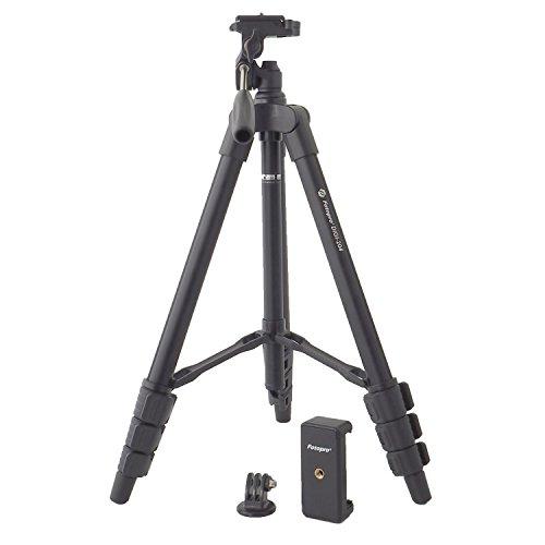 Fotopro スマホホルダー&アクションカメラアダプター付三脚 DIGI-204 ブラック ホルダー・アダプターセット 815743