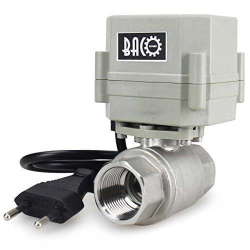 BACOENG AC110/230V 2 Vie 3/4' Acciaio Inox Elettrica Valvola Motorizzata Elettrovalvola Con spina NC