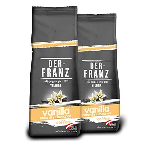 DER-FRANZ - Café aromatizado con vainilla natural, molido, 500 g (paquete de 2)