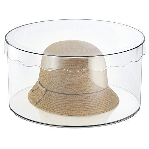 mDesign runde Aufbewahrungsbox mit Deckel – schafft Ordnung in jedem Zimmer – für Gürtel, Schals, Spielzeug – groß/durchsichtig