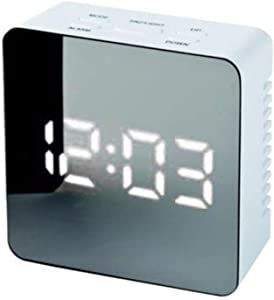 Réveil Numérique LED avec Lumières de La Nuit, Miroir Réveil avec Maquillage Fonction, Multi-Function Desk Clocks, Square Rectangle, Fonction Snooze, Minuteur de Mise en Veille, 12/24H, Affichage de L