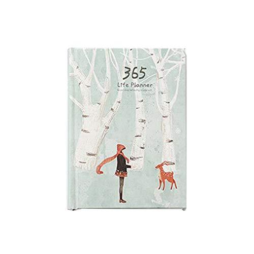 XISAOK Agenda diária pessoal de 365 dias, capa dura, agenda semanal para escritório de 2019