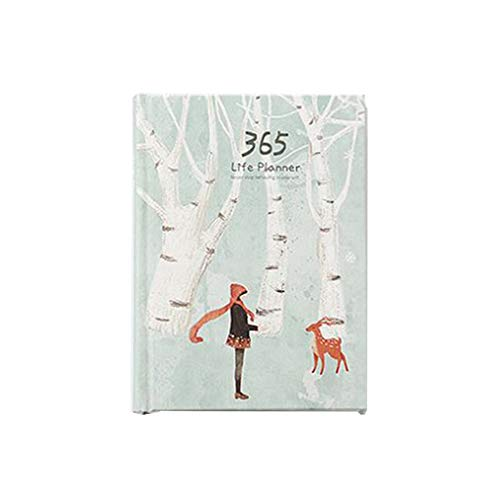 WINJEE, 365 Days Personal Diary Planner Cuaderno de Tapa Dura Notebook 2019 Office Weekly Schedule 5
