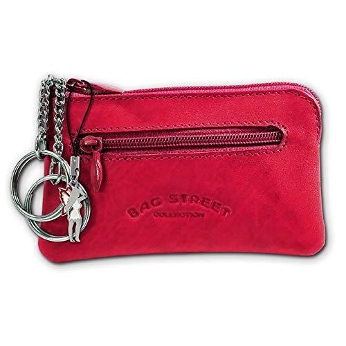 SilberDream DrachenLeder Unisex Schlüsseltasche Etui Geldbörse pink Leder 10x0.5x6cm OPJ900P Leder Schlüsseltasche