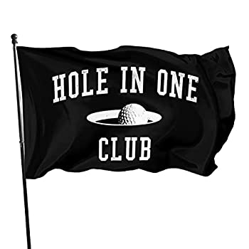 XONRSE Golf Golfer Golfing Golf Ball Hole in One Flag 3x5 Foot-Vivid Color and Fade Proof-Polyester with Brass Grommets 3 X 5 Ft flags