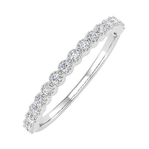 1/5 Carat Bezel Set Diamond Wedding Band Ring