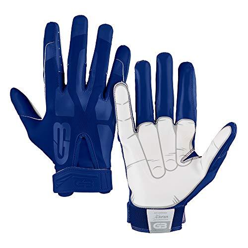 Grip Boost Boys Peace, Shaka, and Hook 'Em Youth Football Gloves Pro Elite (Yellow, Youth Medium)