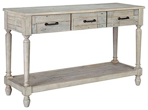 white antique console table - 8