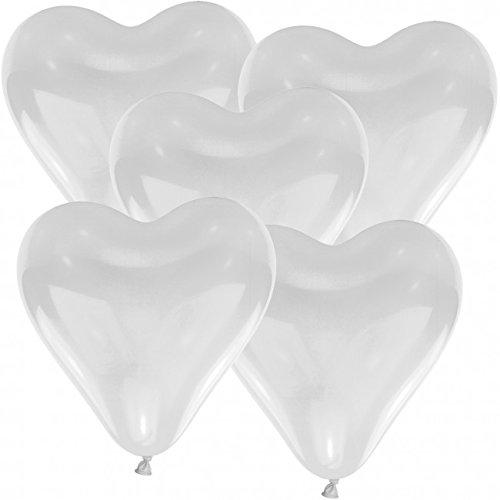 ballon boutique Villingen 50 Herz Luftballons 30cm Durchmesser Weiß