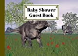 """Baby Shower Guest Book: Zuniceratops Dinosaurs Baby Shower Guest Book, A Simple Mamie And Babies Guestbook 