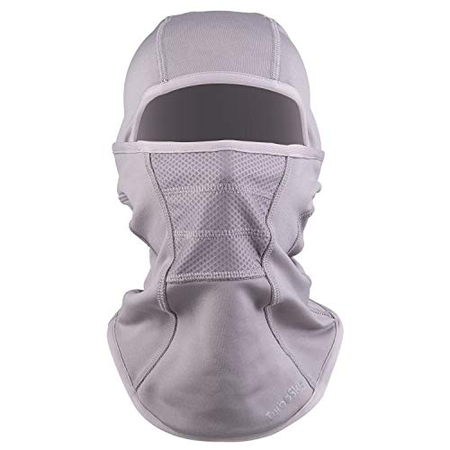 Ski Mask - Balaclava face Mask Wind Water Resistant for Cold Weather (Gray)