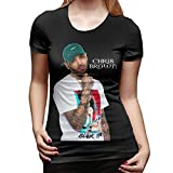 Denise K Steinbach Chris Brown T Shirt Women's Cotton Fashion Sports Casual Round Neck Short Sleeve Tees M