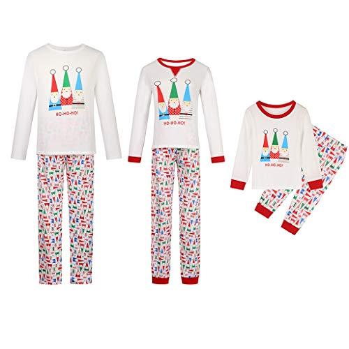 QNONAQ Navidad A Juego Pijamas Coincidencia de White Christmas Pijamas Set Padre Monther bebé de la Familia de los niños Pijamas de Navidad Hombres Mujeres Niños Ropa de Dormir Ropa de Dormir