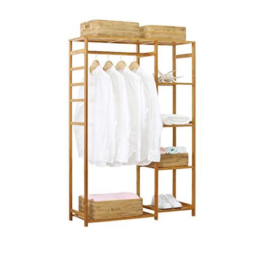 47-B Estante de ropa simple para el hogar, estante de almacenamiento para abrigos, perchas para el suelo, dormitorio