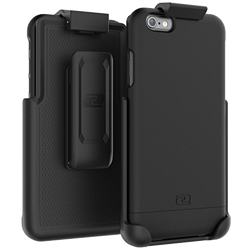 "Encased iPhone 6 Plus Belt Case, Ultra Thin (2016 SlimShield Edition) Secure-fit Holster Clip & Tough Cover (for Apple iPhone 6 Plus 5.5"") (Smooth Black)"