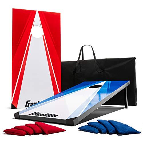 Franklin Sports - Set di 2 bersagli, 8 Pouf e Borsa per Il Trasporto, Unisex - Adulto, Cornhole Set - Includes 2 48 inch x 24-inch Targets, 8 Regulation Bean Bags, And Carry Bag