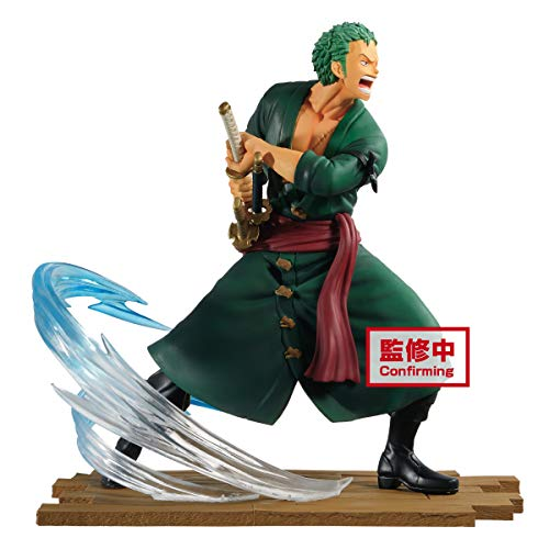 Banpresto ONE Piece Log File Selection-Fight-vol.1 Zoro Roronoa, Multiple Colors (BP16732)