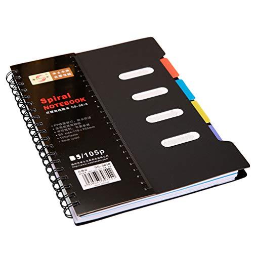 Tomaibaby Quaderno a spirale B5, 6. 3 x 8. 2 pollici giornaliero, con divisorio per studenti, ufficio, scrittura, agenda