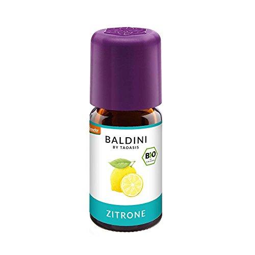 Baldini - Zitronenöl BIO,100{52be8ad6dfd7246b5cec06caea9c9873c28b4a9461bfec287e9e39c5c2e13fcd} naturreines ätherisches BIO Zitronen Öl fein, 5 ml