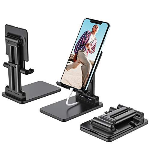 yootech Soporte Movil, Multiángulo Soporte Teléfono Plegable y Portátil con Superficie Antideslizante para 12/12mini/12 Pro max/11/Xs MAX,Huawei P40,Samsung Galaxy,Xiaomi Redmi,iPad Mini 2/3/4