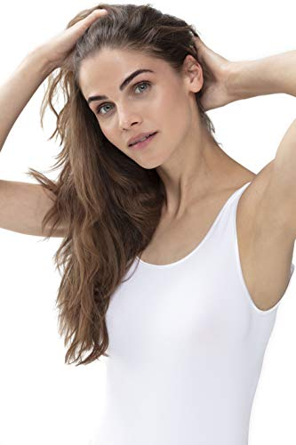 Mey Basics Serie Emotion Damen Tops breiter Träger 55204, Weiß, 46