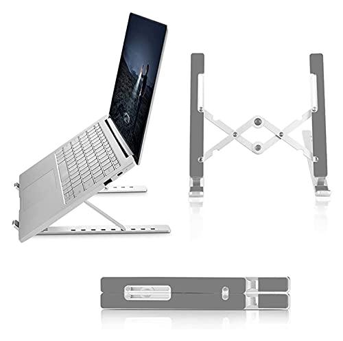 ZCX Rialzo per Laptop Supporto Portatile Portatile Portatile Pieghevole Supporto per Laptop in Lega di Alluminio Regolabile Stand ventilato Rialzo per Laptop