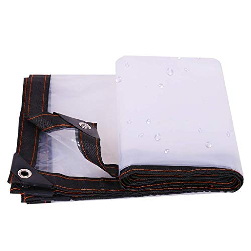 HCYTPL helder buitenzeil met oogjes dikke isolatie regenbestendig kunststof doek - 120 g/m2