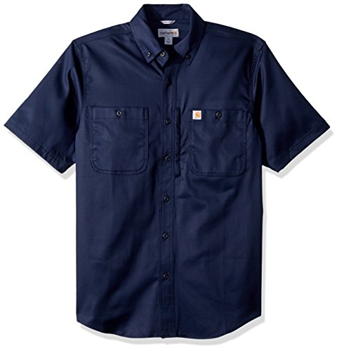 Carhartt Herren Rugged Professional Short-Sleeve Work T-Shirt, Navy, L