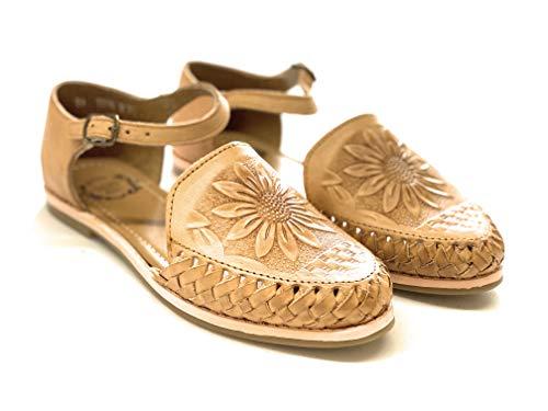 Huarache Mexican Sandals Sunflower for Women