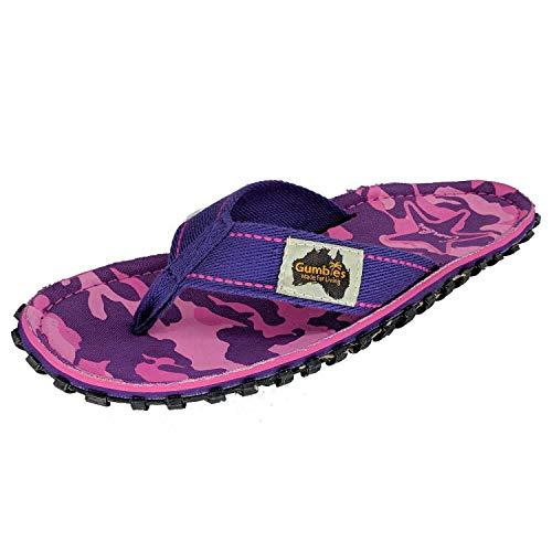 Gumbies, Islander Zehentrenner Unisex, Farbe: Pink & Blue Stripe, Größe: 37