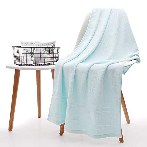 Xiaobing Toalla de baño de Fibra de bambú para Hombres y Mujeres, Toalla Suave, toallitas súper absorbentes para el hogar, Azul Cielo, 70x140cm