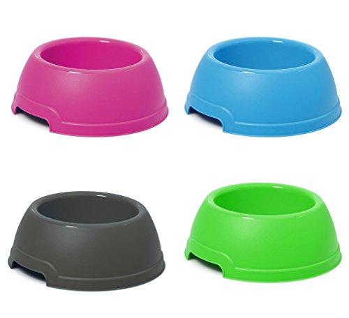 takestop® Ciotola VASCHETTA PLASTICA Tonda D.25x9.5Hcm 1.3 LT per Cocker Cane Gatto Animali Domestici MANGIATOIA Cibo Acqua Colore Casuale