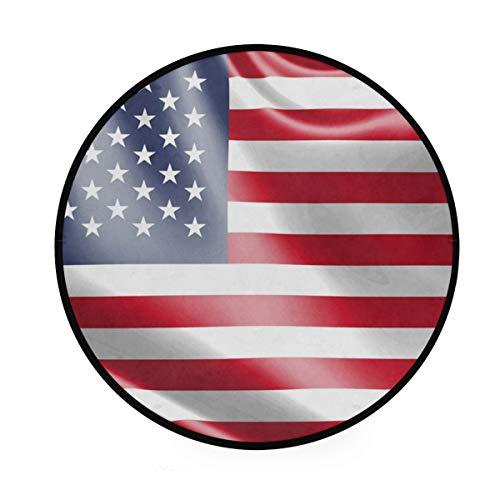MONTOJ USA Flagge, r&, rutschfeste Fußmatte für Wohnzimmer, Schlafzimmer