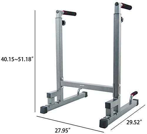 Product Image 4: BalanceFrom Multi-Function Dip Stand Dip Station Dip bar with Improved Structure Design, 500-Pound Capacity (Gray)