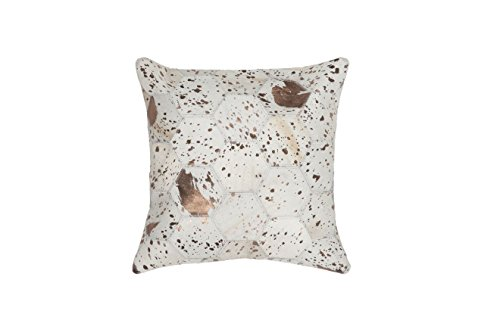 Cojines del sofá Tirar moderna Design Couch Spark Pillow 210 rombos Modello cuero 45 cm x 45 cm beige/cojines decorativos barata online comprar