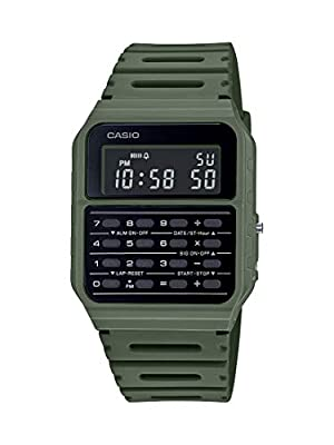 Casio Data Bank Quartz Watch with Resin Strap, Green, 24.1 (Model: CA-53WF-3BCF) from CASIO