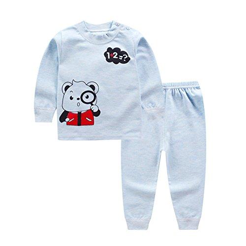 Blaward Pijama Dos Piezas - Cuello Redondo - Manga Larga - para niño Dormir Pijamas Largos Pjs Conjunto para niños 0-4 años