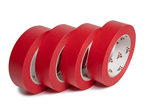 Schuller Eh'klar Premium Klebe-Abdeckband, 4-er Set (30 mm), imprägniertes wasserabweisendes Papierabdeckband (4Stk 30mm, 50m)