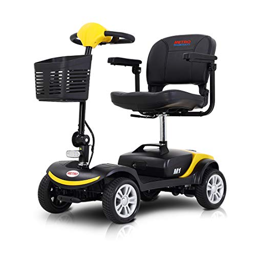 Folding 4 Wheel Mobility Scooter for Adults and Senior, Electric Scooter with Head Light and Rear...