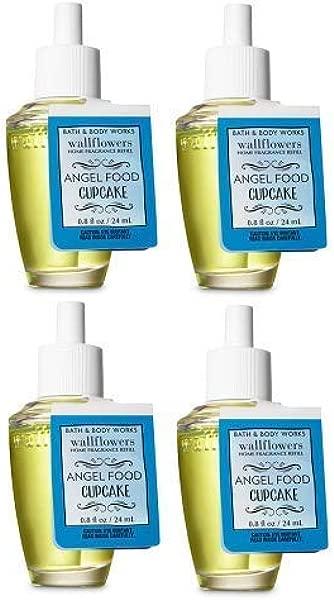 Bath And Body Works 4 Pack Angel Food Cupcake Wallflowers Fragrance Refill 0 8 Fl Oz