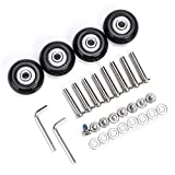 OwnMy 40mm x 18mm Luggage Suitcase Replacement Wheels, Rubber Swivel Caster...