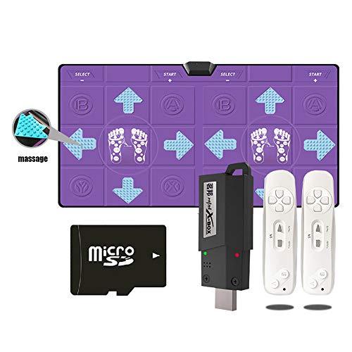 LISI Doppelte Tanz Matten Pads kabellos Tanz Matten Auflage Pads PU Mit Massage TF-Karte kann eingelegt Werden für Wii Console Game