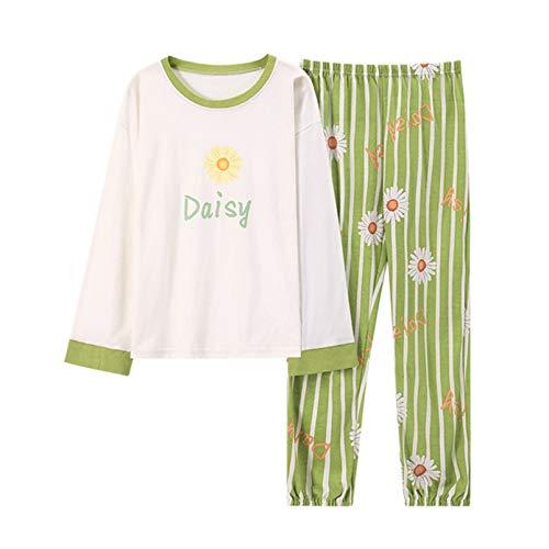 LangfengEU Pyjama Top V-Ausschnitt Bow Knot Sweet Style Komfort Nicht deformiert Retro Pyjama Bottom Glatt Herbst Winter Daily Pyjama Set