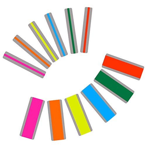 Dyslexia Tools for Kids, 12 Pieces Guided Reading Strips Highlight Strips Colored Overlay Highlighter Bookmarks Tracking Rulers Helps with Reduce Visual Stress Children Assistant(2 Sizes,6 Colors)